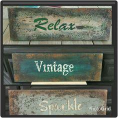 Roestige vintageborden gemaakt met Annie Sloan Chalkpaint☆