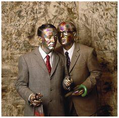 Gilbert & George, NYC, (Photo by Abe Frajndlich) John Baldessari, Robert Morris, Giuseppe Penone, Gilbert & George, Fluxus, Nyc, Collaborative Art, Love At First Sight, Conceptual Art