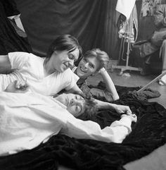 Bowie, Iggy and Ron Wood by Milton Greene, March 1977