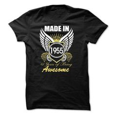 Made in 1955 - 61 years of being awesome - #gift basket #hostess gift. GET YOURS => https://www.sunfrog.com/Birth-Years/Made-in-1955--61-years-of-being-awesome-76590508-Guys.html?68278