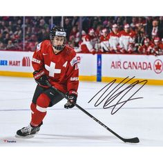 "Nico Hischier New Jersey Devils Fanatics Authentic Autographed 8"" x 10"" Team Switzerland 2017 World Junior Championships Photograph"
