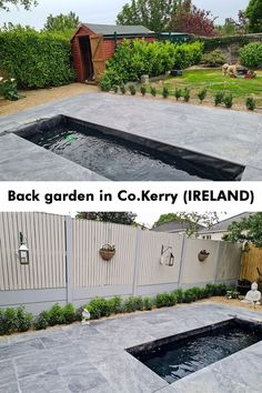 Thinking of sprucing up your outdoor tiles design with porcelain paving? Check this wonderful garden! Adrienna has tiles her garden with our Rasa nero quartzite-effect and it's look sooo good. Outdoor flooring should be durable, easy to maintain and, of course, stylish! That's a wonderful garden idea if you are planning to renovate your garden. Garden Slabs, Garden Tiles, Patio Slabs, Outdoor Tiles, Outdoor Flooring, Bbq Area, Back Gardens, Ireland, Sidewalk