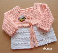 CrissCross Matinee Coat Free Baby Crochet Pattern - Crochet 'n' Create