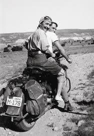 Maria Chabot Georgia O'Keeffe Hitching a Ride to Abiquiu; Driving is painter, Maurice Grosser, who was visiting visiting O'Keeffe. Ghost Ranch, 1944 Georgia O'Keeffe Museum. Georgia O'keeffe, Savannah Georgia, Wisconsin, 3 4 Face, Harley Davidson Knucklehead, Robert Mapplethorpe, O Keeffe, Alfred Stieglitz, Land Of Enchantment