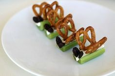 Party activity idea: Fill the celery sticks with filling then let guests assemble the butterfly.