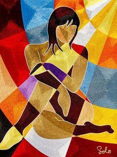 Various Sizes made on demand - Silk Thread Mixed Media - Female Rays - African Art Paintings, Art Paintings For Sale, Modern Art Paintings, Tableau Pop Art, Cubist Art, Afrique Art, Abstract Face Art, Arte Pop, Diy Canvas Art