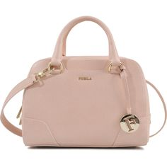 Furla Dolly S bag (€200) ❤ liked on Polyvore featuring bags, handbags, shoulder bags, bolsas, accessories, purses, pink, zip purse, studded handbags and purse shoulder bag