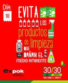 Para proteger el medio ambiente se recomienda leer con atención las etiquetas de cada producto a fin de utilizar la medida mínima necesaria. http://www.expoknews.com/dia-18-evita-los-productos-de-limpieza-que-danan-el-medio-ambiente/