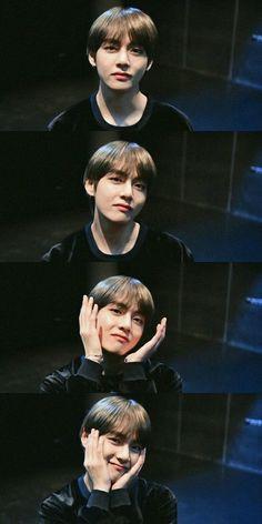 Awwwwww so cuteeeeee Bts Taehyung, Bts Bangtan Boy, K Pop, Foto Bts, Bts Kim, V Bts Cute, V Bts Wallpaper, Billboard Music Awards, Bts Korea