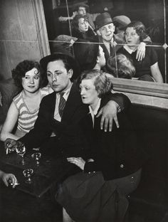 """an image from """"paris by night"""" by brassai...i love the mirroring affect in this photo"""