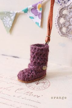 crochet mini boots