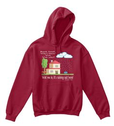Knock, Knock. Who's There? Wet. Wet Who?  Wet Me In, It's Raining Out Here! * Alexander & Kent * Cardinal Red T-Shirt Front