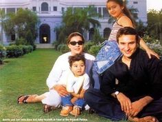 This picture of Saif Ali Khan & family will still your heart away . Taimur Ali Khan, Saif Ali Khan, Mahira Khan, Bollywood Couples, Bollywood Stars, Rare Pictures, Beautiful Pictures, Star Family, Indian Star