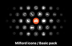 Milford icons / Basic pack on Behance