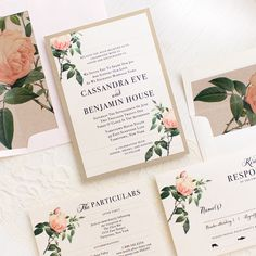Wow your guests with Beacon Lane's modern wedding invitation style, Ivory & Blush Floral, completely customizable to fit the theme of your special day.