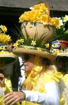 Lightship Basket Daffodil Hat!  Spring Daffodil Festival ...<3