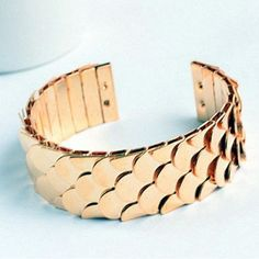 Fishscale armband goud en zilver