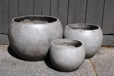 grc squat planters - would love this but a bronze or rust colour