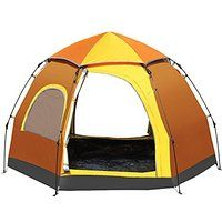 Today's Deals Generic Large-space Family 2 Person Tent Orange sale