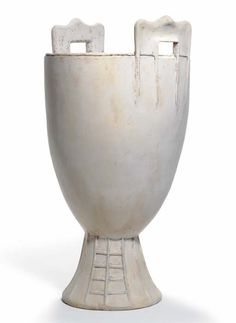 ALBERTO GIACOMETTI (1901-1966) FOR JEAN-MICHEL FRANK   A Patinated Plaster 'Chinese' Vase, 1937   22 in. (55.9 cm.) high