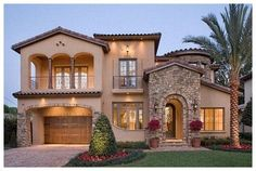 Spanish style homes – Mediterranean Home Decor Mediterranean Homes Exterior, Mediterranean Architecture, Mediterranean Home Decor, Spanish Style Homes, Spanish House, Design Your Dream House, Modern House Design, Style At Home, Tuscan House