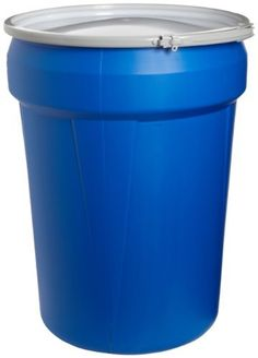 "$57 Eagle 1601MB Blue High Density Polyethylene Lab Pack Drum with Metal Lever-lock Lid, 30 gallon Capacity, 28.5"" Height, 21.25"" Diameter by Eagle Manufacturing Company, http://www.amazon.com/dp/B0025QI4XC/ref=cm_sw_r_pi_dp_S6HXqb1AB2P5T"