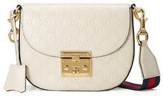 Gucci Padlock Medium Guccissima Curved Crossbody Bag