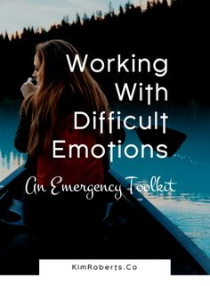 Working with difficult emotions can be extremely challenging in the heat of the moment. Here is an emergency toolkit to help you stay grounded when emotions get charged. Self help for anxiety and depression Depression Self Help, Depression Recovery, Overcoming Depression, Depression Remedies, Depression Symptoms, Inspiring Quotes