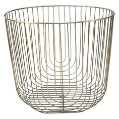 Large Round Brass Wire Basket - Threshold™
