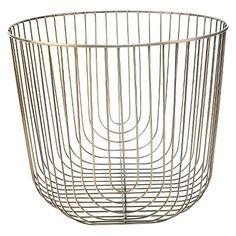 Large Round Brass Wire Basket - Threshold™
