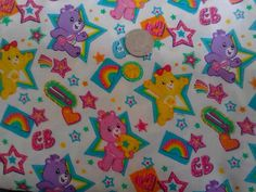 1 Yard of Care Bear All stars fabric 44 wide rare by kittyglammed