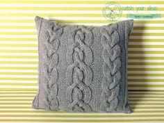 Poszewka na poduszkę zrobiona na drutach #druty #knittingpillow #poduszkanadrutach
