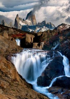 Photo: The Smoking Mountain ( by Doug Solis ) Los Glaciares National Park in Argentina ~ Mount Fitz Roy, in the Andes of southern Patagonia, South America. Places Around The World, Oh The Places You'll Go, Places To Travel, Places To Visit, Around The Worlds, Travel Destinations, Travel Tourism, Nightlife Travel, Holiday Destinations