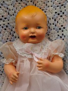 Vintage Effanbee composition Bubbles toddler doll.