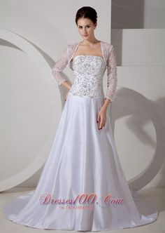 3552cd0203 High Quality Cheap A-Line Ball Gown Princess Strapless Natural Waist Length  Sleeve Non-Strapless Illusion Satin Lace Wedding Dress from HeleneBridal is  on ...