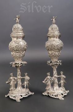 Lot: Pair JD Schleissner & Sohne Silver Salt & Pepper, Lot Number: 0478, Starting Bid: $1,500, Auctioneer: Royal Antiques, Auction: European Furniture and Decorative Art, Date: January 29th, 2017 EST