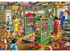 Toy Shop by Steve Crisp (800×600) - I'll try to find this larger later but this being an artist somewhat popular amongst jigsaw puzzle fans, I thought I make sure we don't already have this in an album???