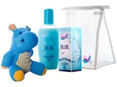 Kit Hyppo Blue Colônia 100ml + Sabonete Líquido - Blue 200ml + Esponja Hipopótamo + Necessaire com as melhores condições você encontra no Magazine Jesymarkin. Confira!