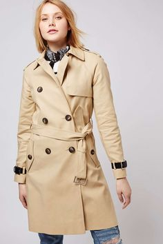 Military Trench Coat - Topshop USA