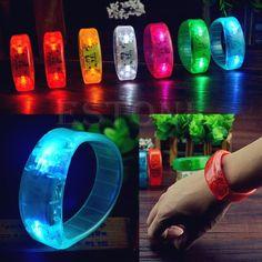Fiesta de la moda Se Ilumina de Luz Activada Por Voz LED Luz Intermitente Hasta Brazaletes