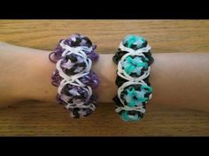 Rainbow Loom - MOD POD Bracelet. Designed and loomed by Claire's Wears. Click photo for YouTube tutorial. 08/17/14.