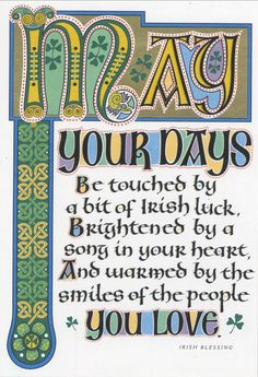 Share a traditional Irish blessing.