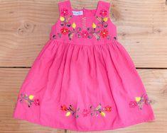 Kids Summer Dresses, Toddler Girl Dresses, Toddler Outfits, Toddler Girls, Simple Dresses, Cute Dresses, Girls Dresses, Traditional Mexican Dress, Traditional Dresses