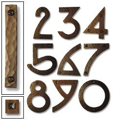 Craftsman house numbers