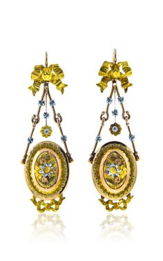 Shop Antique Gold Earrings by Simon Teakle for Preorder on Moda Operandi