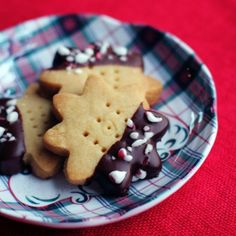Chocolate-Dipped Peppermint Shortbread Cookies! Perfect for your next holiday party!