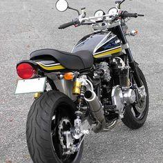 Kawasaki Old Z Series - Página 5 - Auto Design Ideen - Motos Kawasaki Cafe Racer, Kawasaki Motorcycles, Cars Motorcycles, Street Fighter Motorcycle, Bobber Motorcycle, Triumph Bobber, Retro Motorcycle, Old Classic Cars, Classic Bikes
