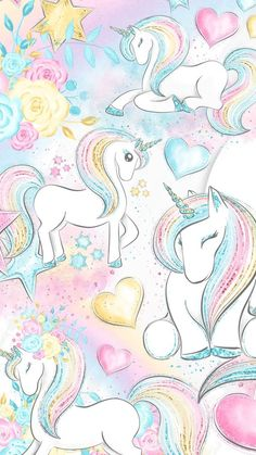 If you haven't been in a good life recently and want to transfer, you might want to change your iPhone wallpaper to make you even… Unicornios Wallpaper, Animal Wallpaper, Colorful Wallpaper, Flower Wallpaper, Wallpaper Backgrounds, Black Wallpaper, Wallpaper Quotes, Unicorn Art, Rainbow Unicorn