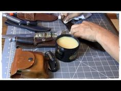 Obenauf's Heavy Duty Leather Preservative and a few of my favorite knive...