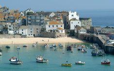 British seaside resort St Ives in Cornwall beats Spain to top European beach Cornwall England, St Ives Cornwall, Devon And Cornwall, England Uk, Seaside Resort, Seaside Towns, Seaside Uk, Seaside Holidays, British Seaside